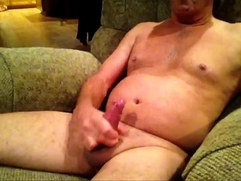 Grandpa stroking until it cums