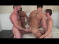 Horny Gay gangbanged by 3 bros - Hardcore and facial