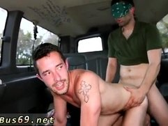 Straight broke men first time gay Dude With Dick Piercing gets Ass On