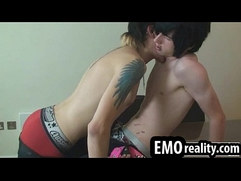 Hot emo twinks with piercings and tattoos undress and suck my dick