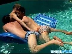 UndieTwinks - Ayden, Kayden  Shane - Pooltime Threeway!