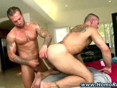 Muscular gay straight toy play