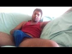 Enjoying porn at home