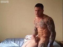 Michael Hoffman Jerk n Cum on Bed
