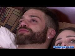 Bearded hunk blown by sisters fiancee