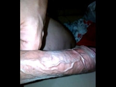 showing big veiny dick