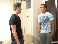 Horny married male gives head to a gay