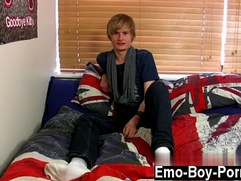 Hot gay Brent Daley is a super cute ash blonde emo man one of our