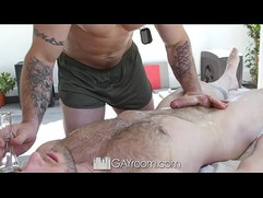 GayRoom Military workout massage and fuck session with Aiden Hart