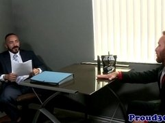 Gay mature redbears job interview cums to climax