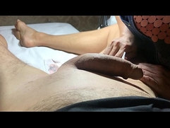 Brazilian Waxing of a Hung Male Finish and Oiling